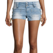 Almost Famous Lace-Up Shorts - Juniors