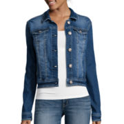 Wallflower Button-Front Denim Jacket