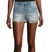 Arizona High-Rise Denim Shorty Shorts