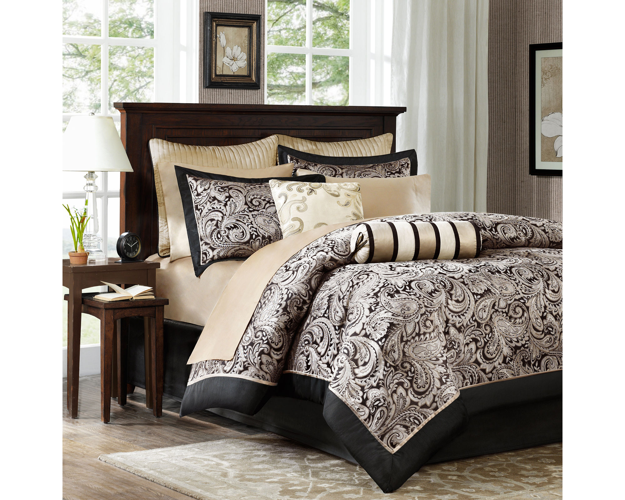 Madison Park Wellington 12 - pc. Complete Bedding Set with Sheets