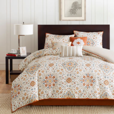 jcpenney.com | Madison Park Maya 6-pc. 2-in-1 Duvet & Coverlet Set