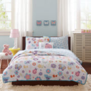 Mi Zone Butterfly Bonanza Complete Bedding Set with Sheets