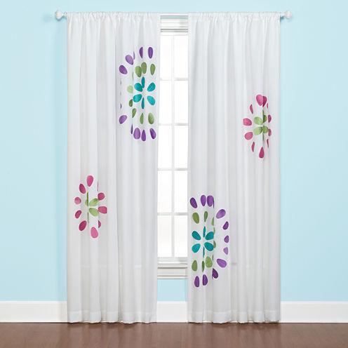 Starburst Rod-Pocket Curtain Panel