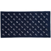 IZOD® Diagonal Anchors Beach Towel