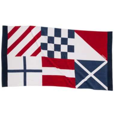 jcpenney.com | IZOD® Nautical Flags Beach Towel