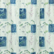 Bacova Indigo Wildflowers Shower Curtain