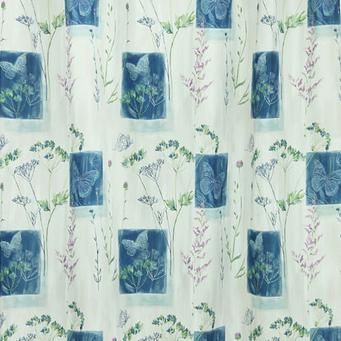 Bacova Indigo Wildflowers Shower Curtain