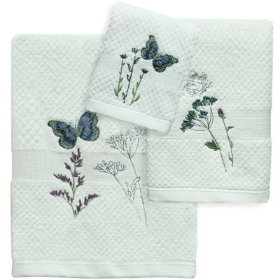 Bacova Indigo Wildflowers Bath Towel Collection