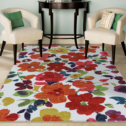 Mohawk Home® Bright Floral Toss Rectangular Rug