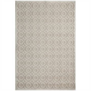 Momeni® Platinum Textured Circles Rectangular Rug