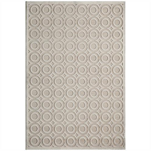 Momeni® Platinum Textured Circles Rectangular Rug