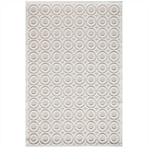 Momeni® Platinum Textured Circles Runner Rug