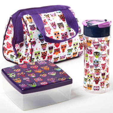jcpenney.com | Fit & Fresh® Riley Hoot 4-pc. Kids Lunch Kit