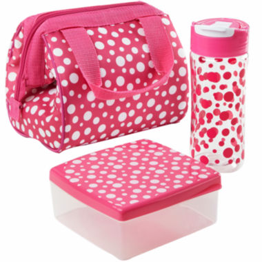 jcpenney.com | Fit & Fresh® Riley Hoot Dots 4-pc. Kids Lunch Kit