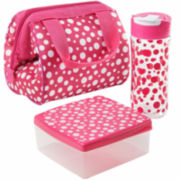 Fit & Fresh® Riley Hoot Dots 4-pc. Kids Lunch Kit