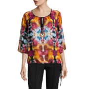 nicole by Nicole Miller® Flutter-Sleeve Blouse