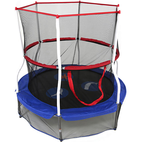 "Skywalker Trampolines® 60"" Round Seaside Adventure Bouncer with Enclosure"