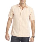 Van Heusen® Short-Sleeve Crosshatch Woven Shirt