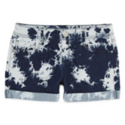 Total Girl® Dye Effect Shorts - Girls 7-16 and Plus