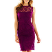 Liliana Sleeveless Lace Illusion Dress