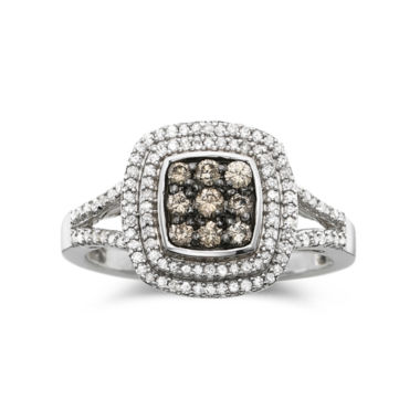jcpenney.com | 1/2 CT. T.W. White & Champagne Diamond Statement Ring