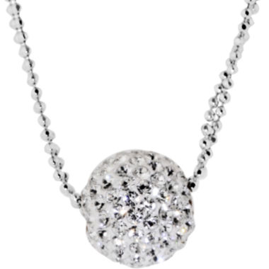 jcpenney.com | Sterling Silver Crystal Ball Double-Chain Pendant Necklace