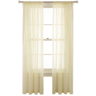 jcpenney.com | MarthaWindow™ Voile Rod-Pocket Sheer Panel  copy