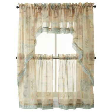 jcpenney.com | Seascape Rod-Pocket Kitchen Curtains