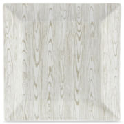 jcp EVERYDAY™ Faux Bois Set of 4 Square Dinner Plates