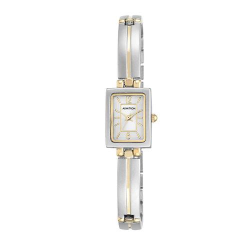 Armitron® 5331 Womens Silver Dial Rectangular Bangle Watch