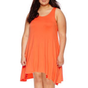 Decree® Sleeveless Swing Tunic Dress - Plus