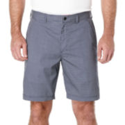 PGA TOUR® Hybrid Mini-Grid Flat-Front Shorts