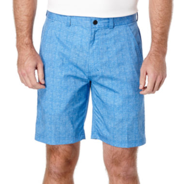 jcpenney.com | PGA TOUR® Hybrid Heather Print Flat-Front Shorts