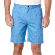 PGA TOUR® Hybrid Heather Print Flat-Front Shorts