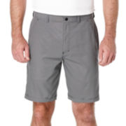 PGA TOUR® Hybrid Plaid Flat-Front Shorts