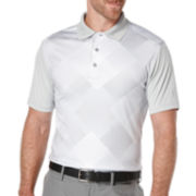 PGA TOUR® Short-Sleeve Altered Argyle Golf Performance Polo