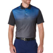 PGA Tour® Short-Sleeve Linear Ombre Golf Performance Polo