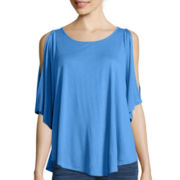 a.n.a® Short-Sleeve Cold-Shoulder Top