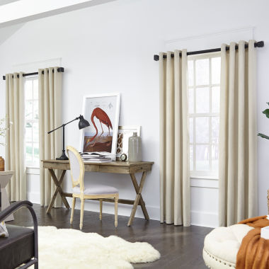 jcpenney.com | JCPenney Home Made-To-Length Linen Grommet-Top Unlined Curtain Panel