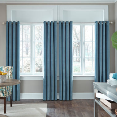 jcpenney.com | JCPenney Home Made-To-Length Velvet Grommet-Top Unlined Curtain Panel