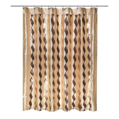 Popular Bath Shimmer Shower Curtain