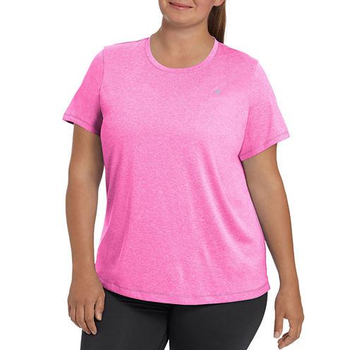 Champion Short Sleeve Scoop Neck T-Shirt-Womens Plus
