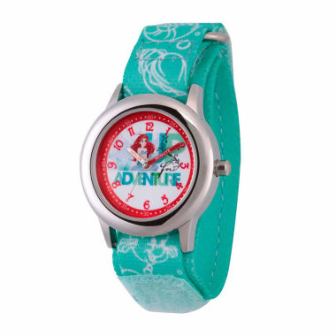 jcpenney.com | Disney The Little Mermaid Girls Green Strap Watch-Wds000045