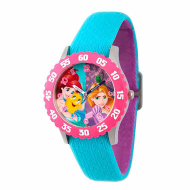 jcpenney.com | Disney Disney Princess Girls Blue Strap Watch-Wds000055