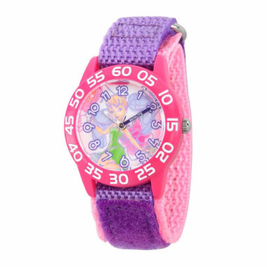 jcpenney.com | Disney Tinker Bell Girls Purple Strap Watch-Wds000108