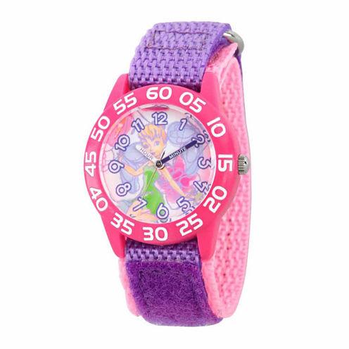 Disney Tinker Bell Girls Purple Strap Watch-Wds000108