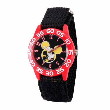 jcpenney.com | Disney Mickey Mouse Boys Black Strap Watch-Wds000111