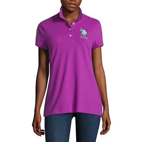 Us Polo Assn. Short Sleeve Solid Knit Polo Shirt Juniors