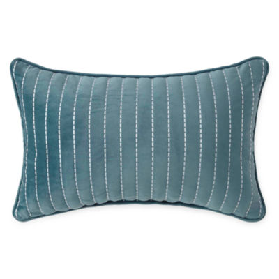 Liz Claiborne Magnolia Velvet Oblong Decorative Pillow