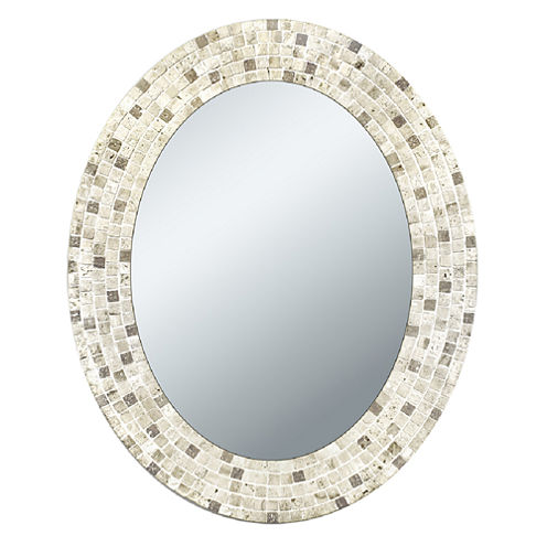 Travertine Mosaic Wall Mirror
